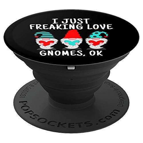 Funny I Freaking Love Gnomes Gnom Liebhaber - PopSockets Ausziehbarer Sockel und Griff für Smartphones und Tablets