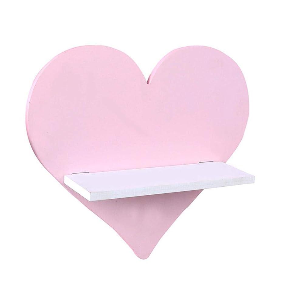 人間衝突するシンプルなシェルフアース交換 棚をフローティングウォールシェルフ子供の棚ルームラック革新的な木製ホルダー子供の写真の写真の小道具、カラー:ピンク (Color : Pink)
