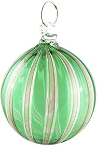Bola de Navidad de cristal de Murano de colores con aventurina natural, ideal como regalo