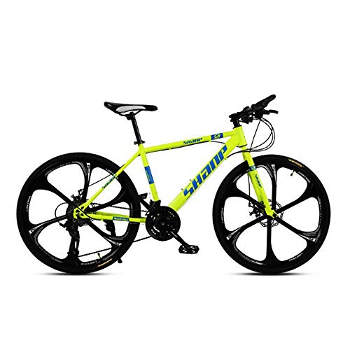Caiyan Bicycle,High-Speed Mountain Bike 21 Inches,27-Speed Dual Disc Brake Bicycle,for Off-Road,Mountain,Adult Riding,Yellow