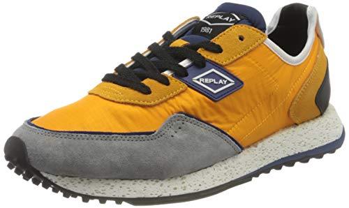 Replay Herren Drum Road Sneaker, 1657 Mustard Blue, 42 EU