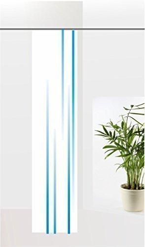 gardinen-for-life Flächenvorhang Linia Blue, Schiebevorhang mit Druck-Motiv, Gr.60x260 cm Schlichtes Modernes Motiv