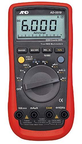 A&D 6000カウント デジタルマルチメーター AD-5519