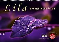Lila - die mystische Farbe (Wandkalender 2022 DIN A2 quer): Die Farbe Lila, mystisch und unergruendlich, Verbindung zwischen warmen Rot und kalten Blau. (Geburtstagskalender, 14 Seiten )