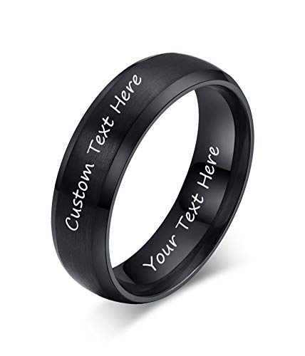 Mejor King Will Basic Men Wedding Black Tungsten Ring 8mm Matte Finish Beveled Polished Edge Comfort Fit 8.5 crítica 2020