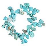 YARNOW Chips Irregulares Cuentas de Piedra Trituradas Trozos de Cristal Cuentas de Roca Sueltas Agujero Perforado para La Fabricación de Joyas Decoración DIY Artesanías Azul Cielo