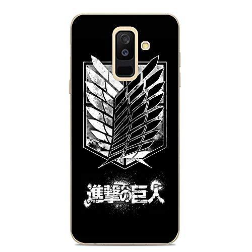 LUOKAOO Ultra TPU Silicone Rubber Gel Edge Protection Cover Case for Samsung Galaxy A6 Plus/J8 2018/A9 Star Lite-Shingeki Kyojin-Attack on Titan-Logo 9