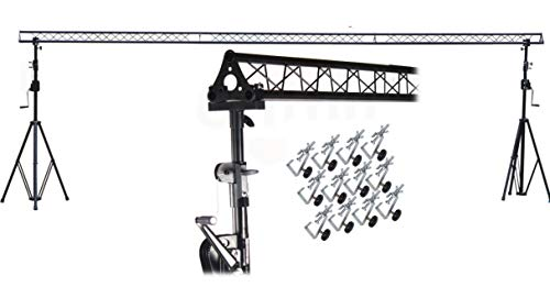 GRIFFIN - Crank Up Triangle Light Truss System | DJ Booth Trussing Stand Kit for Light Cans & Speakers | Pro Audio Lighting Stage Platform Hardware Package | Portable Music Equipment Mount Gear Holder