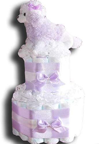 Tarta de pañales mágica para niñas, en bonitos colores, regalo para bebés, bautizos, nacimientos