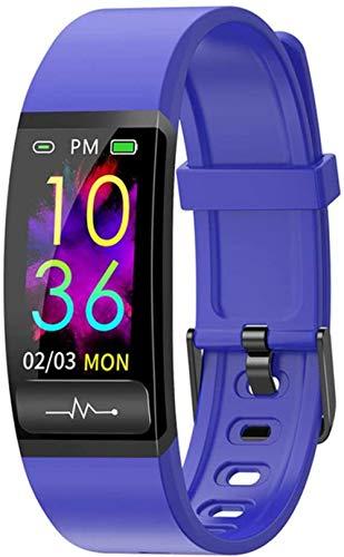 ECG Smart Watch Hombres s Mujeres s Presión Arterial Fitness Pulsera Inteligente Monitor de Frecuencia Cardíaca Impermeable Rastreador de Actividad Smartband-A