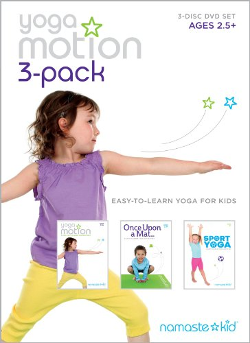 Yoga Motion 3-pack - Kids Yoga DVD 3-disc Set