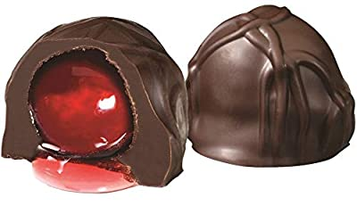 Andy Anand Belgian Dark Chocolate Cherry Cordials, Amazing-Delicious-Decadent Gift Boxed & Greeting Card, Birthday, Valentine, Christmas Gourmet Food Mothers Fathers day, Anniversary