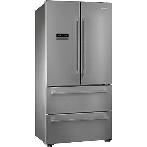 Smeg FQ55FX2PE Independiente 539L A++ Acero inoxidable nevera puerta lado a lado - Frigorífico side-by-side (Independiente, Acero...