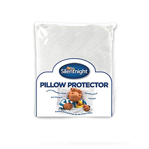 Silentnight Quilted Pillow Protector Plus, White, Pack of 2