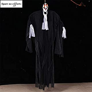 Professional 2m Big Animated Scary Halloween Spooky Ghost Haunted House Escape Hanging, Spooky Town, Horror Props, Department Halloween, Plastic Skeleton, Skeleton In Halloween Decor, Ghost Face