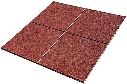 suelos para parques infantiles medida de 100 x 100 x 2 cm 1m2 1 unidad Pack de Losetas de caucho para parques infantiles y gimnasios , Azul