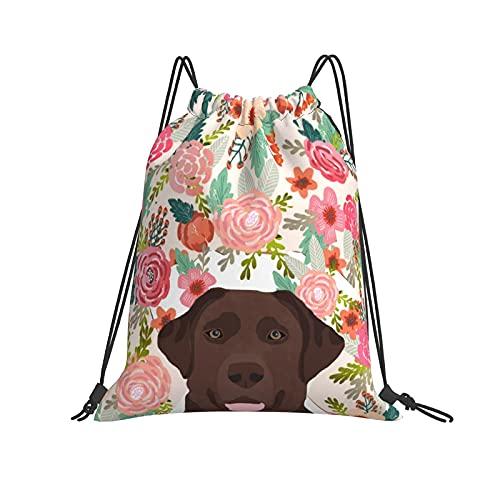 Mochila deportiva impermeable con diseño de retrato de perro, para hombres, mujeres, niñas y niños