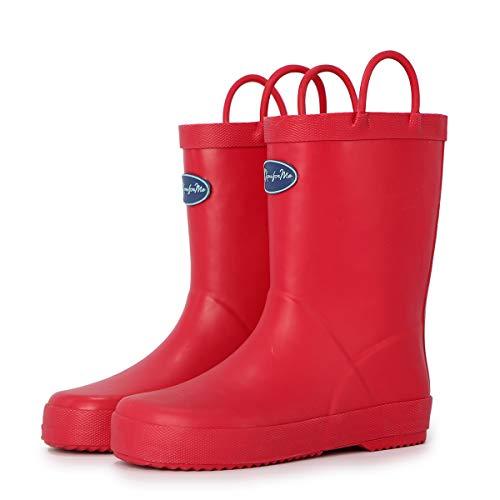 Western Chief Girls Kids Wonder Woman Rain Boot, Red, 6 M US Toddler