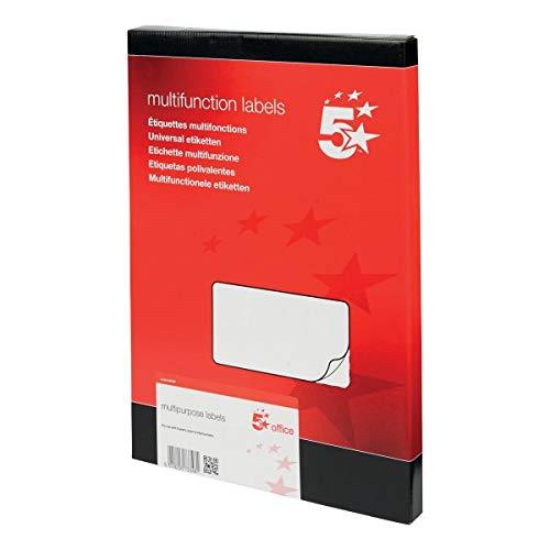 5 Star Office 940437 99 x 93 mm Laser Copier and Inkjet Multipurpose Label...
