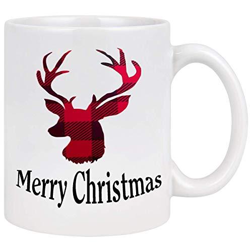 Not Applicable Tazza Di Caffè Di Natale Con Renne Di Natale Tazza Di Buon Natale Regali Di Capodanno Tazza Di Natale Regali Di Natale Per Amici Uomini Donne Padre Madre Tazze Da Caffè Per Natale 11Oz