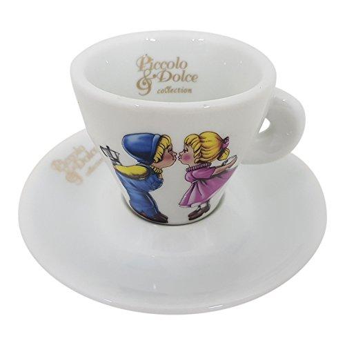 Piccolo Dolce Lucaffe Espressotasse Tasse mit Unterteller