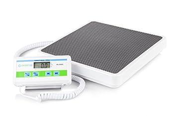 Patient Aid Medical Floor Scale - Portable - Digital Easy Read - High Capacity - Heavy Duty - Home Hospital & Physician Use - Pound & Kilogram Settings - 12  x 12.5  Platform - 550 lb Limit