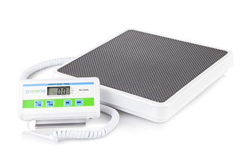 "Patient Aid Medical Floor Scale - Portable - Digital Easy Read - High Capacity - Heavy Duty - Home, Hospital & Physician Use - Pound & Kilogram Settings - 12"" x 12.5"" Platform - 550 lb Limit"