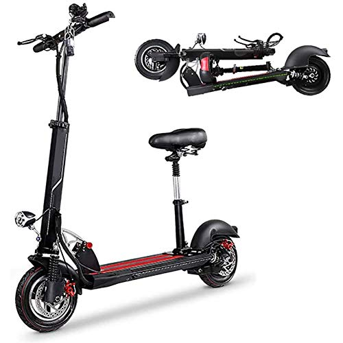 YYhkeby Scooters eléctricos eléctricos Plegables de la Ciudad de la Ciudad, 350W hasta 40 km / h 10 Pulgadas vehículo Scooter eléctrico eléctrico de la Vespa electrónica, hasta 35-45 km Jialele