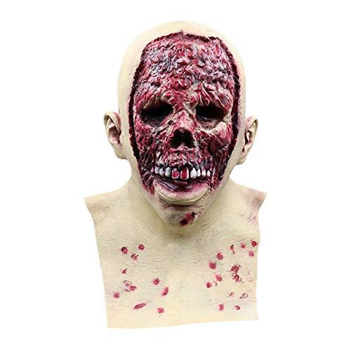 Máscara De Calavera De Terror De Halloween, Cara Sangrienta Horrible De Látex, Máscara De Muertos Vivientes Para Disfraces De Halloween, Accesorios Para Fiestas, Disfraces, Accesorios Para La Cabeza