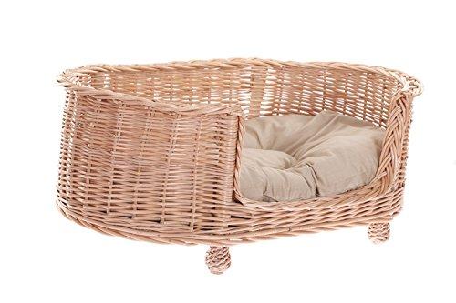 Ein Lager aus Weide für einen Hund/eine Katze, ein Liegestuhl für Tiere mit herausnehmbaren Kissen, Katzenlager/Hundlager, Hundebett/ Katzenbett