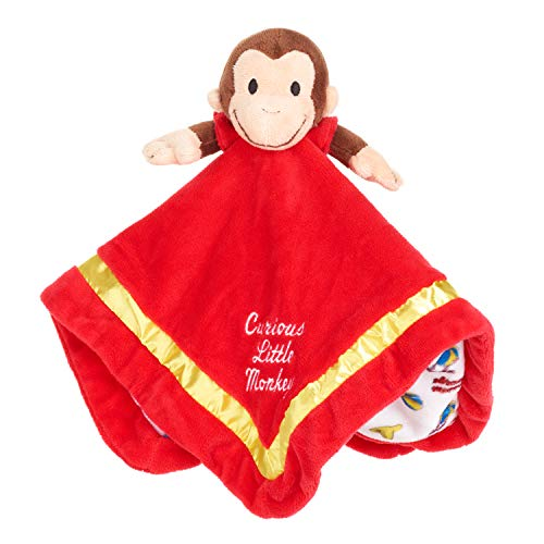 KIDS PREFERRED Curious George Stuffed Animal Monkey Blanket