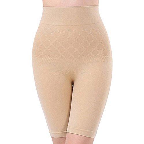Shoppy Villa Women's Cotton 4-in-1 Shaper Tummy, Back, Thighs, Hips Shapewear (Skin, Free Size)