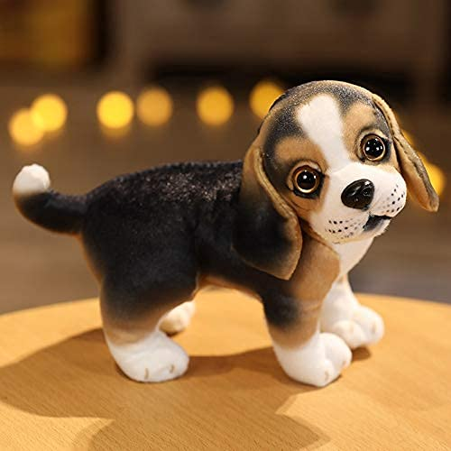 XIAN Llamamiento Simulación Husky Chihuahua Perro Juguete Relleno Realista Bichon Bulldog Juguete decoración casera Regalo de Mascota 18 cm e hailing (Color : C, Size : 18cm)