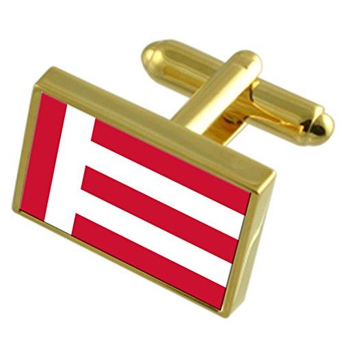 Select Gifts La Ciudad de Eindhoven, Países Bajos Bandera de Oro Gemelos