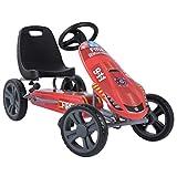Hauck Toys For Kids Kart a Pedales Speedster - Go Kart con Freno de Mano y Asiento Ajustable para niños a Partir de 4 años - Rojo