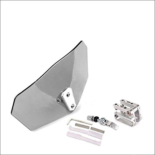 Riloer Adjustable Clip on Universal Motorcycle Windshield Extension Spoiler Vent Deflector Clear Clear