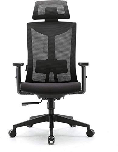 ZXCN Ergonomischer BürostuhlDrehbarer Mesh-Computerstuhl mit Verstellbarer Lordosenstütze und PU-ArmlehnenAtmungsaktive Mesh-Rückenlehne und gepolsterter Sitz