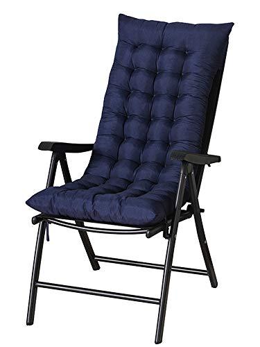 ZCXR - Cuscino per lettino da sole, per chaise longue, ricambio per lettini da interni e giardino, reclinabile, spesso cuscino per sedia, cuscino per divano, tappetino per finestra, colore: Blu scuro