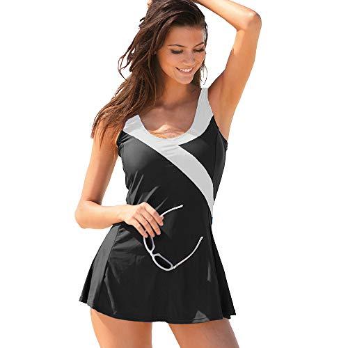 VENCA Bañador Vestido Escote V Tallas Grandes Mujer by Vencastyle - 013367