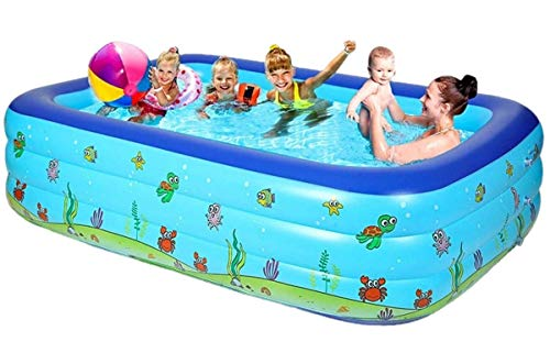 Generies Family Pool Inflatable, Pools for Kids and Adults, Swimminng Pools,Kiddie Pools Inflatable, Big Large Inflatable Pool for Adults Deep,Adult Size Inflatable Pool (262X175X60CM)