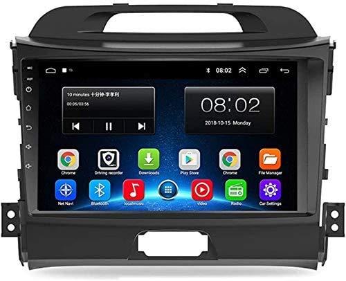 MIVPD Compatible para Kia Sportage 2011-2015 Sat Nav Android 9.0 Unidad De Cabeza FM Radio Receptor Auto Audio Player MP5 Coche Estéreo 9 Pulgadas Pantalla Táctil Navegación GPS,8 Core 4G+WiFi 4+64GB