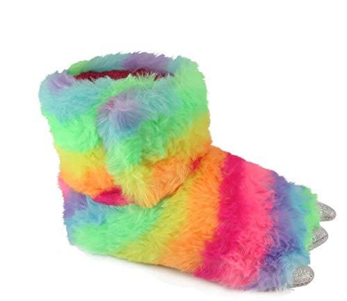 Childrens Baby Boy Girl Slide Slippers Dinosaur Claw Slippers (Rainbow, med 7-8)