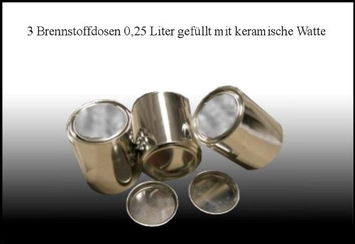3 Doses de Carburant (0,25 litre, Vide) / Joignant Laine Céramique