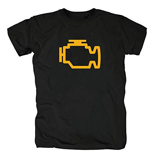 TSP Motorkontrollleuchte T-Shirt Herren XL Schwarz