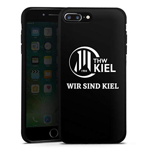 DeinDesign Silikon Hülle kompatibel mit Apple iPhone 7 Plus Case schwarz Handyhülle Handball THW Kiel Fanartikel