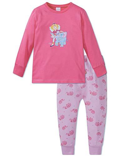 Schiesser Mädchen Prinzessin Lillifee Md Anzug lang Zweiteiliger Schlafanzug, Rot (Pink 504), (Herstellergröße: 104)
