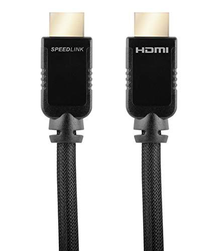 Speedlink - Cable HDMI para PS3 (alta velocidad, con Ethernet, compatible con 1440p y 2160p, transmisión de audio y imagen sin retardos, 2 m), color negro Negro 5 m