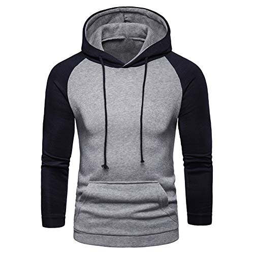 BEIXUNDIANZI Herren Sweatshirt Herren Hoodie Sweatjacke Pullover Kapuzenpullover Doppelte Farbe Hoodie Zweifarbige Nähte S