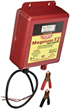 Parmak MAG12-UO 12-Volt Magnum Low Impedance Battery Operated 30-Mile Range Electric Fence Charger; Weatherproof, Indoor&Outdoor; Ideal for livestock or predator control; 3-YR Warranty (MADE in USA)