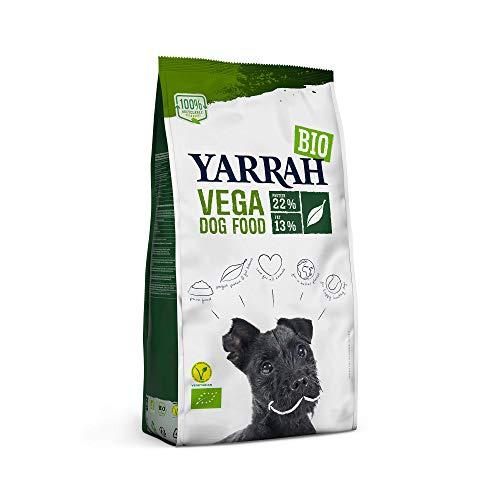 YARRAH Vega Croquettes pour Chien végétariennes et biologiques - Convient à Tous Les Chiens Adultes | Exquise Nourriture pour Chiens, 10kg | 100% Bio et sans additifs artificiels